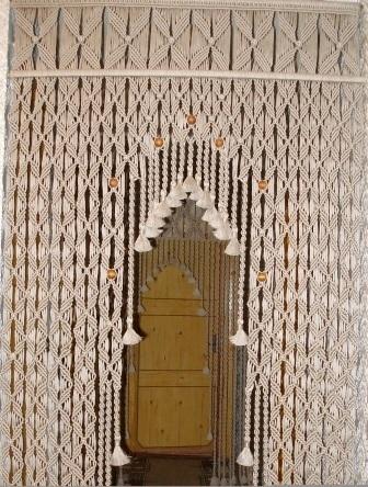Макраме в дверной проем схема