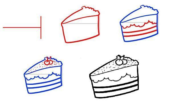 Рисуем пирожные поэтапно
