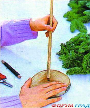 Своими руками сделать елку из веток сосны