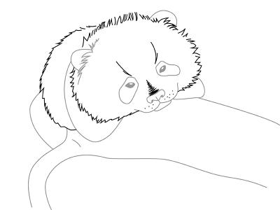 нарисовать панду