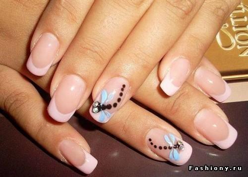 Как рисовать стрекозу на ногтях