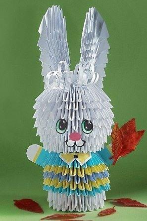 склеить кролика из бумаги