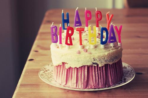 Поздравление на торте с днем рождения