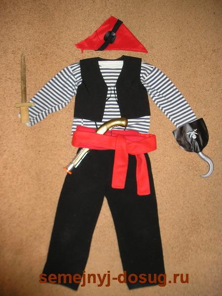 Как сделать костюм пирата своими руками фото