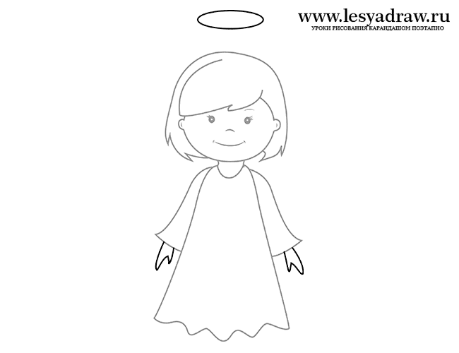 получившегося ангелочка.