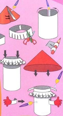 Как сделать грибы  из бумаги видео