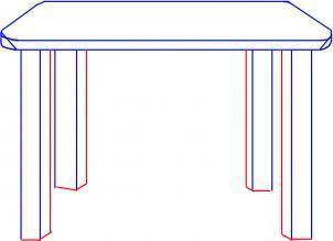 Нарисовать схему стола