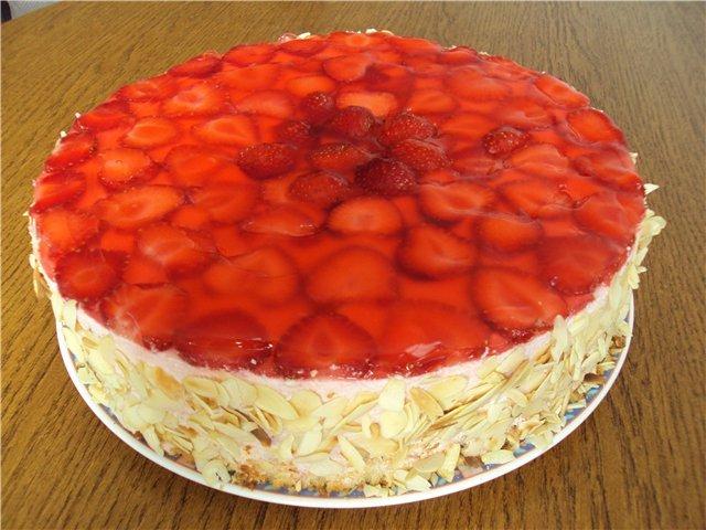 Фрукты на торте покрыть желатином