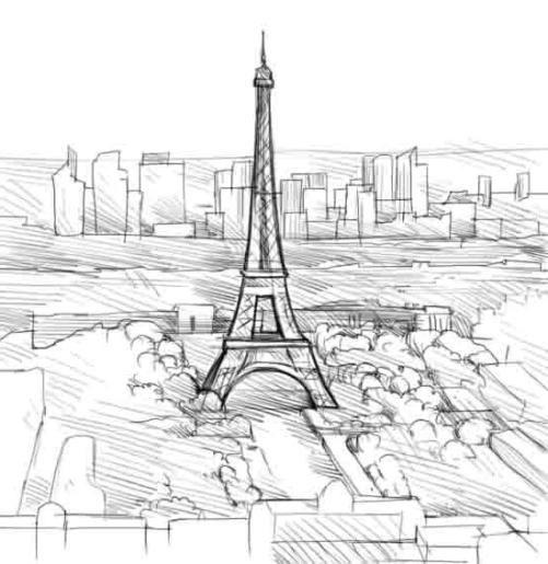 Башня рисунок карандашом поэтапно