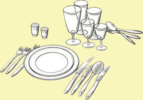 Центральная и правая схемы сервировки стола стеклом или хрусталем являются основными: именно они наиболее...