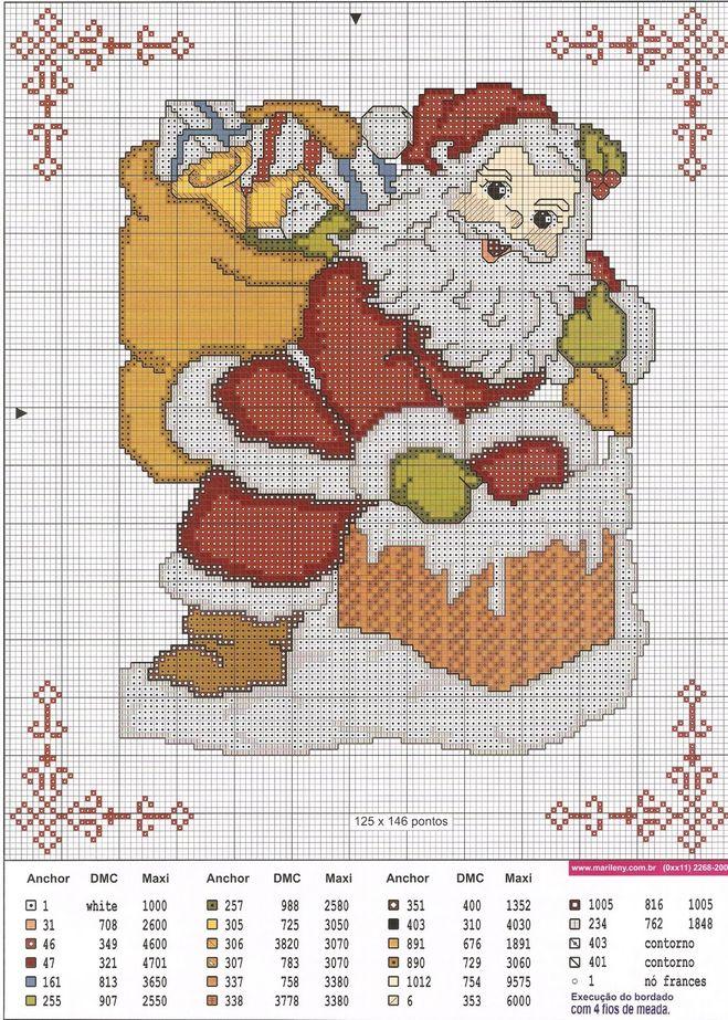 и вышить Деда Мороза,