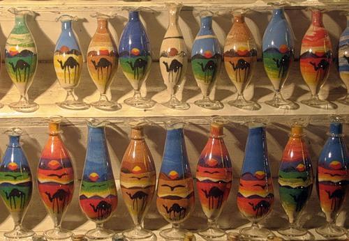 Цветной песок в бутылке своими руками 598