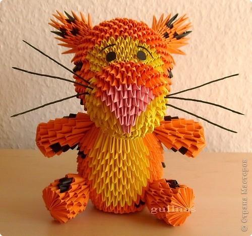 Мастер класс модульного оригами тигр