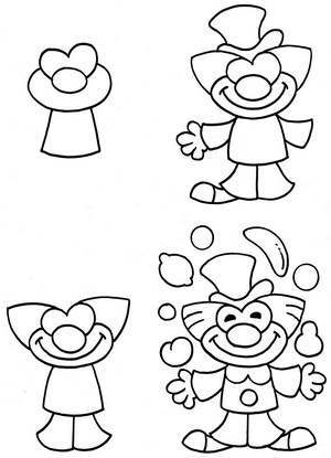 рисунок клоуна: