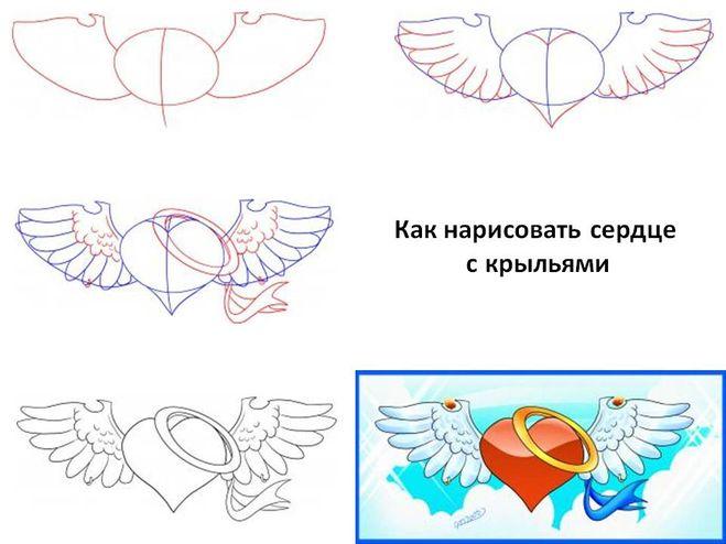 Как поэтапно нарисовать сердце в руке