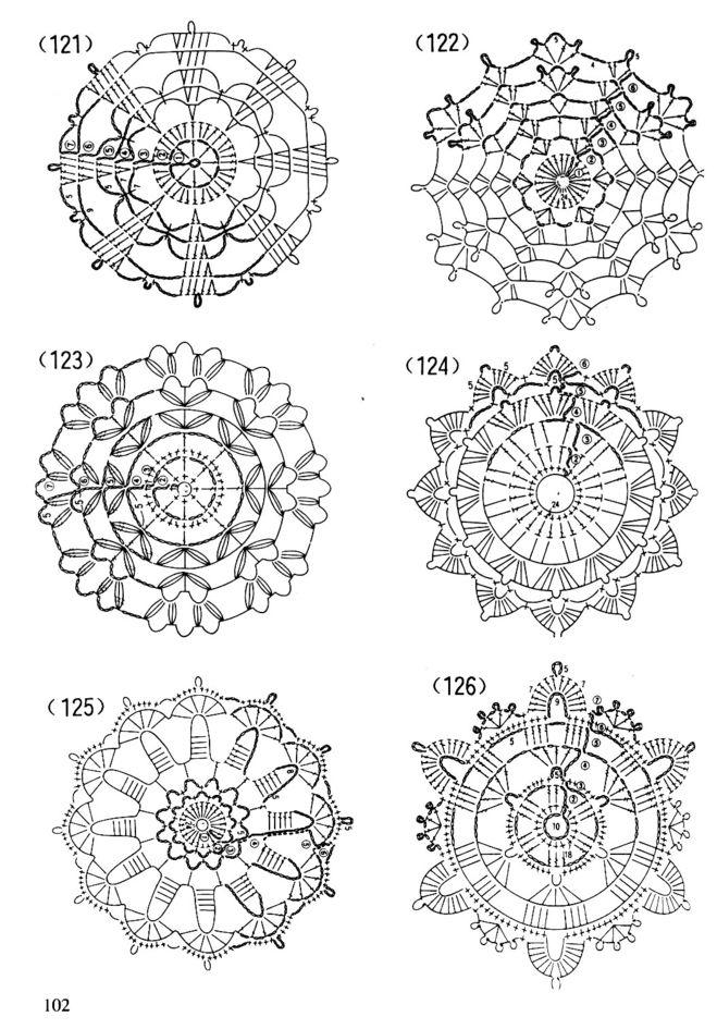 Схемы маленьких салфеток