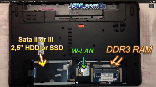 Ноутбук acer aspire e1-571 замена hdd