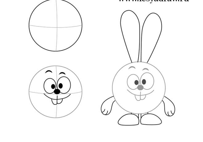 Рисуем зайцев или кроликов