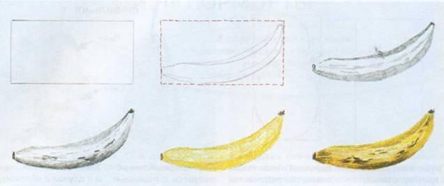 Нарисовать бананы поэтапно