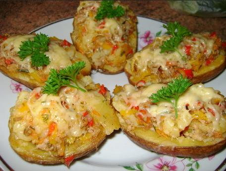 Запеченные половинки картофеля в духовке рецепты