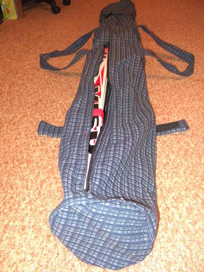 Выкройка чехла для лыж своими руками