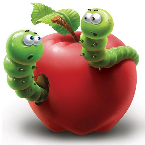 Яблоко с червяком картинка 1