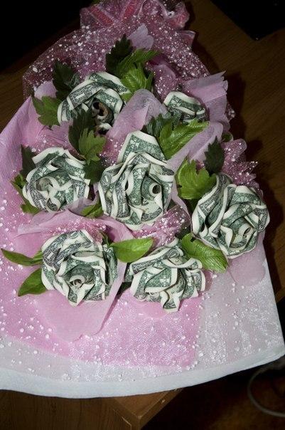 Цветок с деньгами в подарок