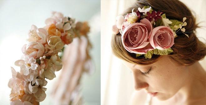 Украшения из цветов на голову
