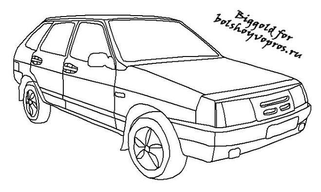 картинки для мрисовки машин