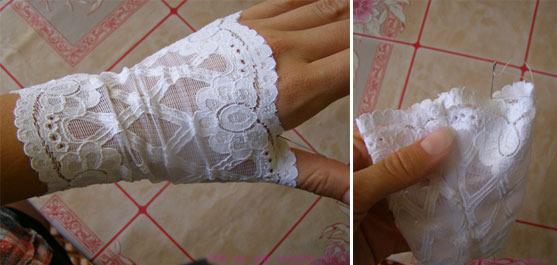 Как сшить кружевные перчатки 29
