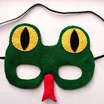 Новогодние маски своими руками змея