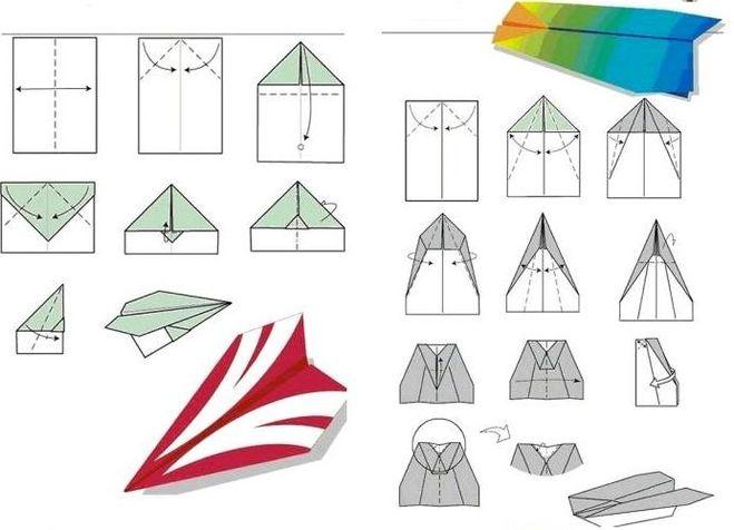 Как сделать самолётик из бумаги поэтапно