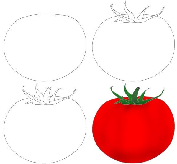 картинки помидора для срисовки