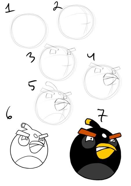 нарисовать Angry Birds