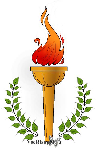 Как рисовать символы олимпиады