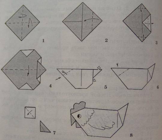 Как из бумаги сделать цыпленка
