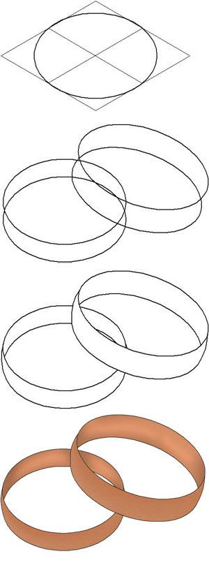 Кольца обручальные рисунок карандашом
