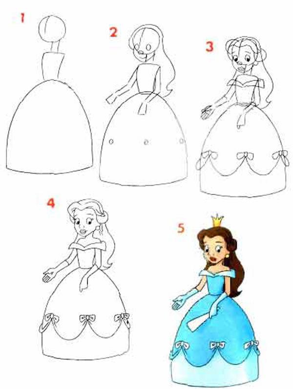 Платья для схемы рисовать