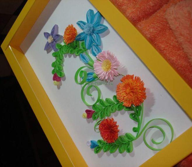 Композицию из цветов своими руками из бумаги