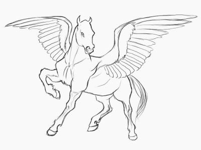 Единорог с крыльями рисовать поэтапно
