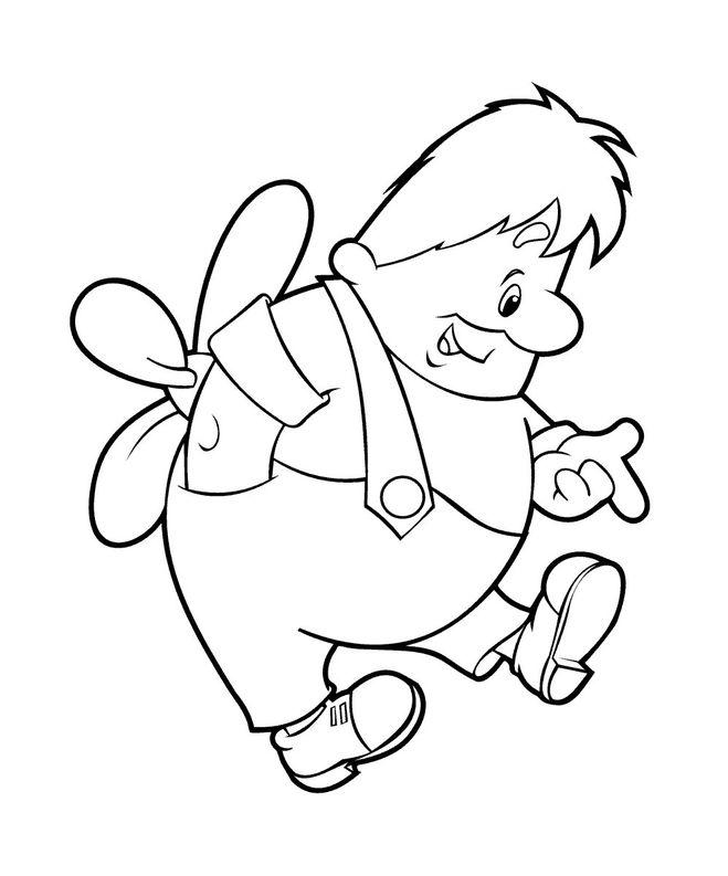 Как нарисовать сказку малыш и карлсон поэтапно