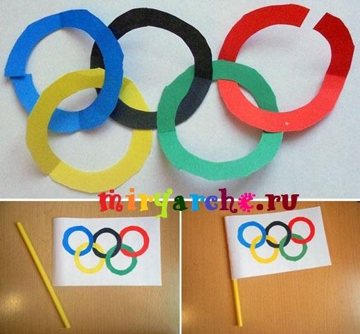 Олимпийские кольца из ниток своими руками