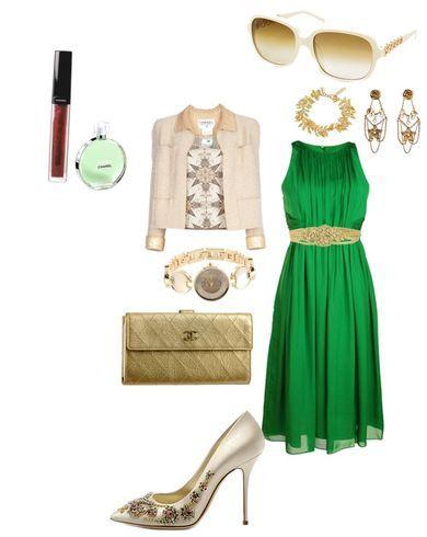 Туфли к зеленому вечернему платью