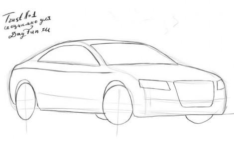 как рисовать машины ламборджини сэсто элементо поэтапно