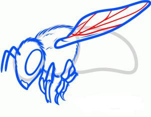 нарисовать пчелу 7