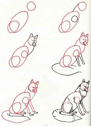 рисунок лиса: