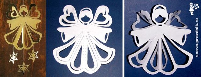 Бумажный ангел своими руками шаблоны