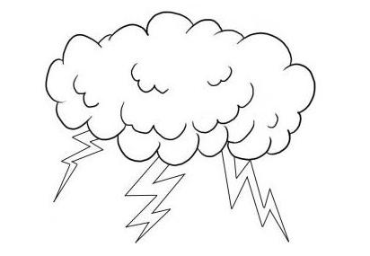 Как нарисовать молнию поэтапно