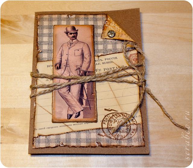 Новогодние открытки своими руками для мужчины