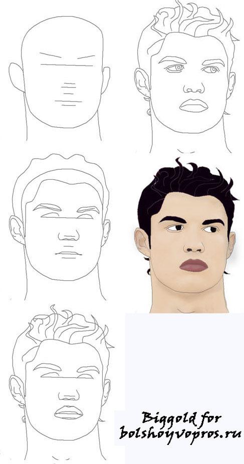 Как нарисовать футболиста месси